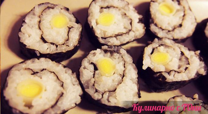 Шопско суши - хосомаки праз