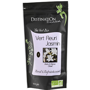 Био китайски зелен чай с цветчета жасмин 100 гр. Destination