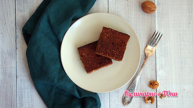 Райско брауни - веган, без глутен и какао
